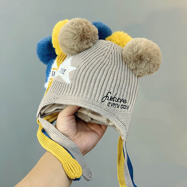Örme Beanie Hat Kızlar Şapkalar Boys Boys Hat Çocuk Cap El Örme Caps A9340 Caps Yeni Sonbahar Kış çocuklar şapkalar bebek şapkaları