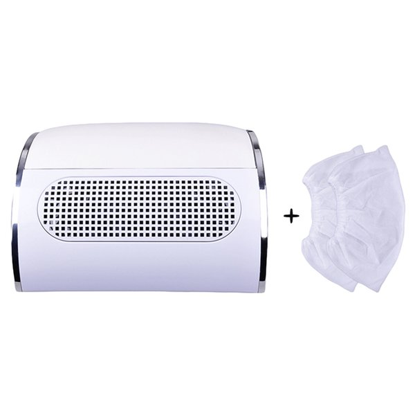 Powerful Professional Nail Dust Collector with 3 Fan Vacuum Cleaner Manicure Tools with 2 Pcs Dust Collecting Bags Nail Art DIY
