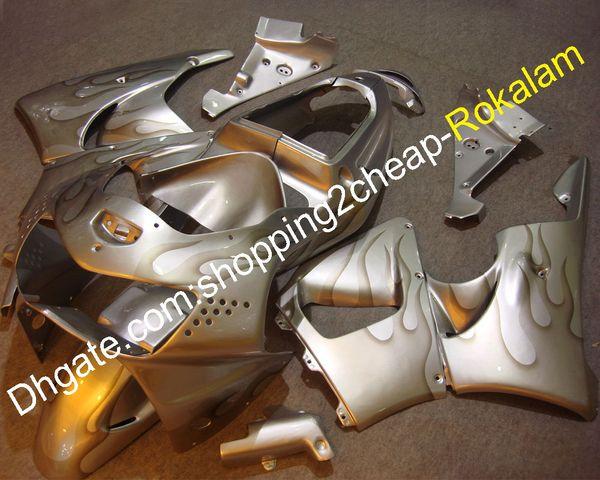 Carenados de motocicleta Flame para Honda CBR900RR 1998 1999 CBR919 900RR 919 98 99 CBR900 RR Moto ABS Body Body Carenado de plata