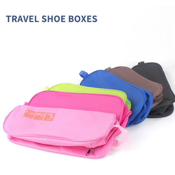 Portable Travel Shoe Bag Transparent View Window Shoes Storage Bags Waterproof Shoe Bag Breathable Pouch Luggage Shoes Organizer DBC VT1653