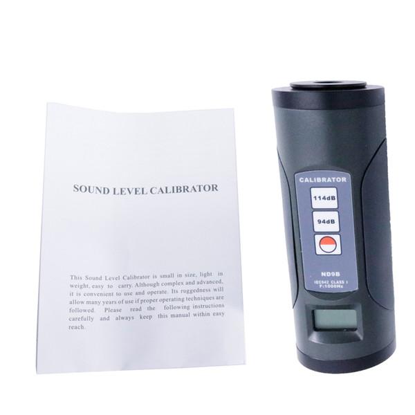 ND9B Digital Sound Level Meter Calibrator Professional Noise Decibel Tool Temperature Coefficient: 0~0.01 dB/C
