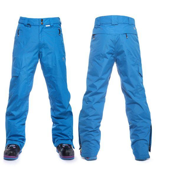 New 2016 Men Ski Pants Winter Thermal Snowboard Pants Waterproof Windproof Snow Trousers Male Thicken Warm Ski Sports Trousers