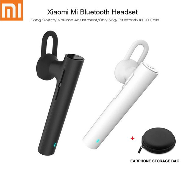 Original Xiaomi Mi LYEJ02LM In-Ear Wireless Bluetooth Headset with Mic Sports Handfree On-cord Control Earphone for Mobile Phone