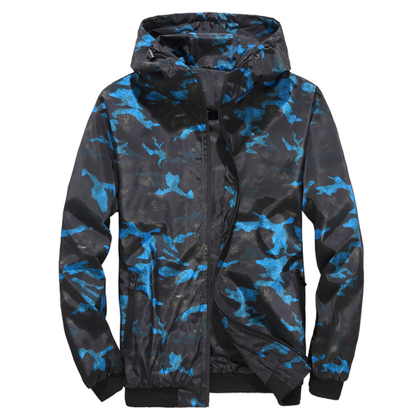 4XL Mens Camouflage Print Jackets Sports Style Fashion Hooded Long Sleeve Homme Clothing Winter Autumn Casual Apparel