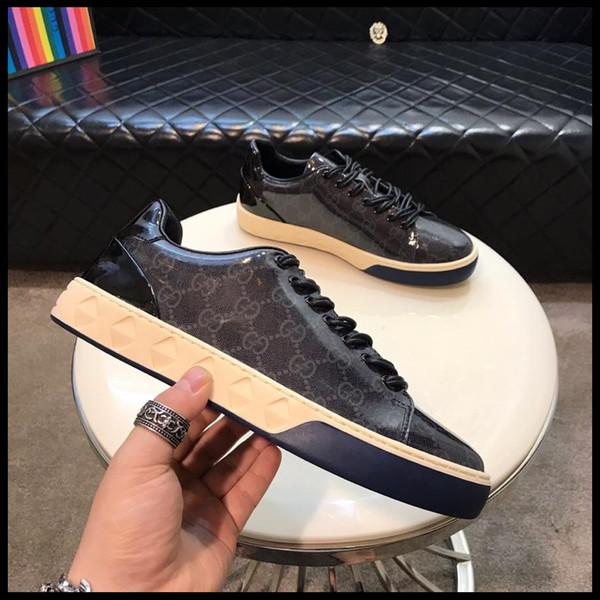 2019 nuevos zapatos de diseñador para hombres, zapatos de cuero para hombres, zapatos transpirables para viaje al aire libre, caja original una generación