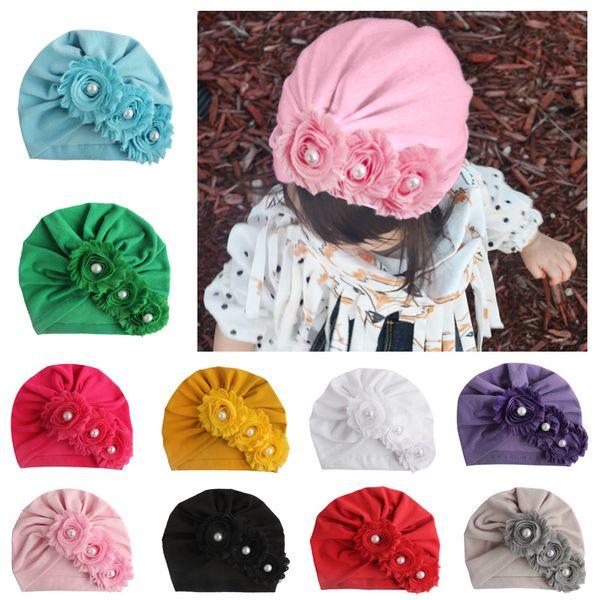 Nuovo Infant Europa neonate cappello fiori Copricapo del bambino che bambini Berretti Turbante Cappelli Bambini Accessori A415