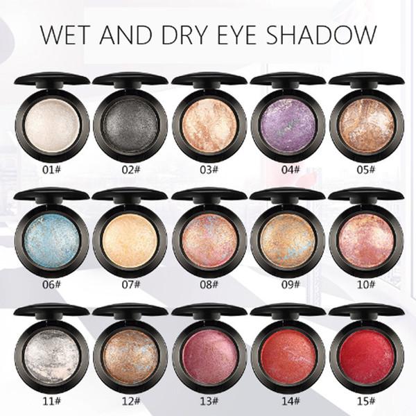 Stock 15 Colors Eyeshadow Baked Matte Shimmer Palette Shine Nude Pigments Metallic Wet and Dry Good Eye Shadow Make Up Beauty UBUB Cosmetic