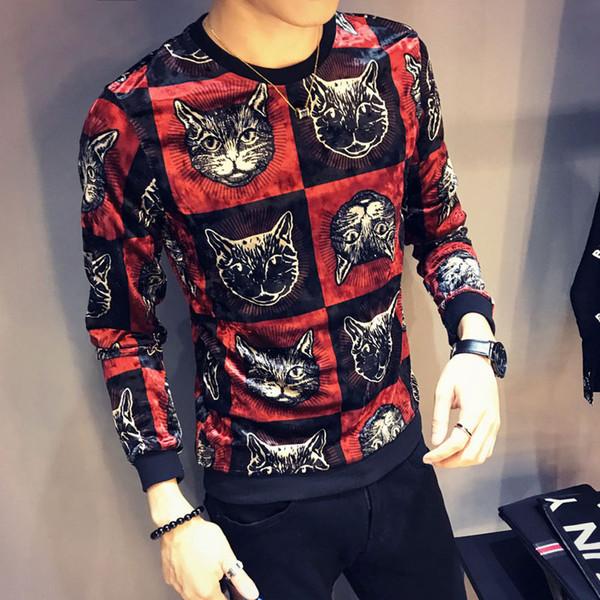 2019 moda suéter para hombre suéter de manga larga cuello redondo para hombre nueva moda para hombre diseñador suéter