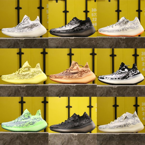 Free Shipping Kanye V3 Citrin Alien Black White Alien Green Yellow Pink Sneaker KIds Men Women Fashion Running Shoes Euro 36-46