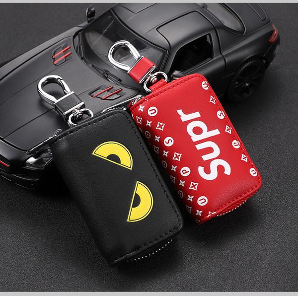 2020 Trendy Marca Little Monster Car Porta chiavi dell'automobile Caso chiave a distanza di caso chiave universale in pelle a distanza di copertura