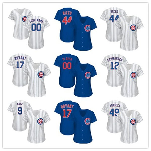 newest b4313 ba838 2019 Womens Custom Cubs Jersey Anthony Rizzo Kris Bryant ...
