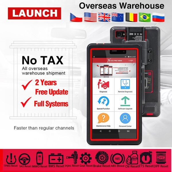Launch X431 pro mini ecu full system auto diagnostic tool x-431 pros mini obd2 scanner bluetooth wifi 2 years free update