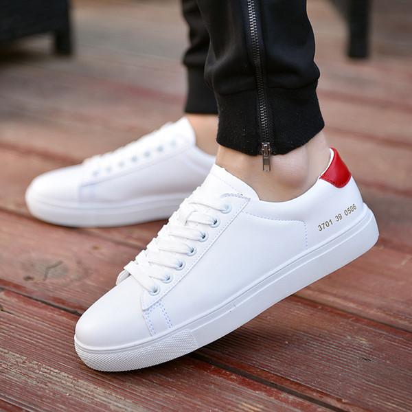 Original Men White Flat Shoes Comfortable Waterproof Fabric Sneakers Sport Running Breathable Tenis Masculino Walking Zapatos