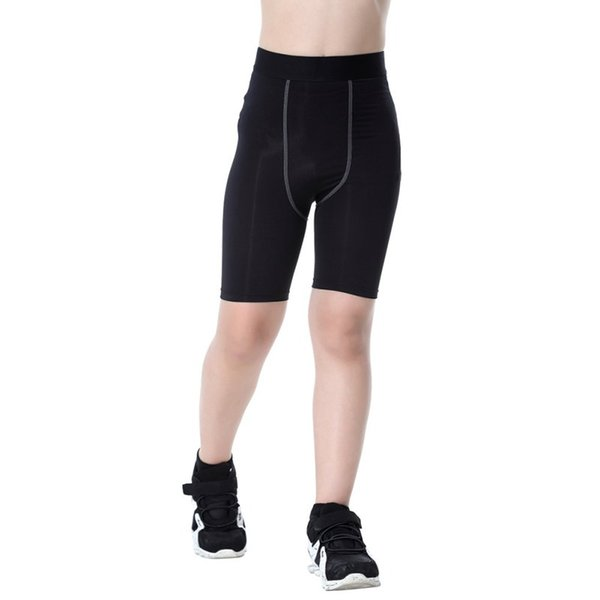 boys compression base layer running tights skin sport wear fitness shorts thumbnail