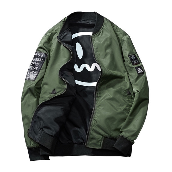 The new ma1 bomber jacket is a stylish men's printed junior casual baseball jacket windbreakers mens coats leather varsity jackets for men