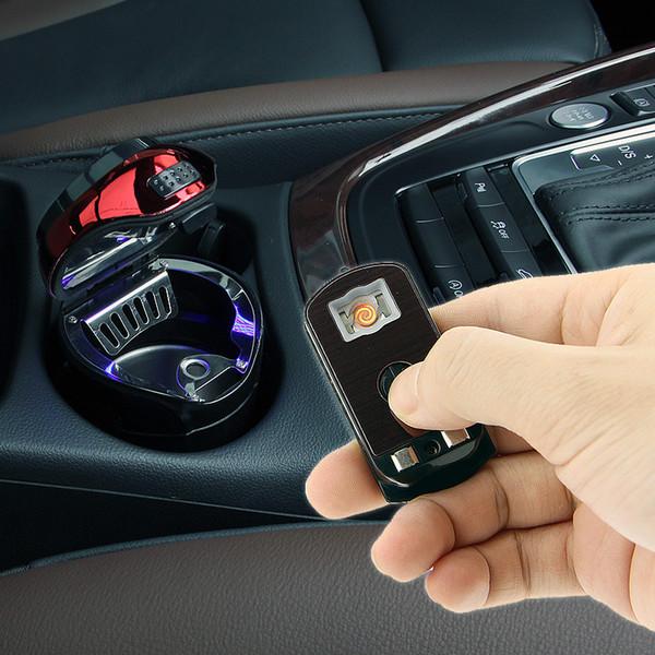Haute Qualité Universal Car Cendrier éclairez fumer avec des lumières LED Creative voiture amovible Cendrier Cendrier stockage Coupe voiture d se approvisionner