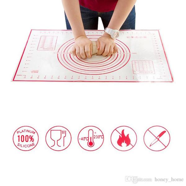 2 Teile / satz Große + Kleine Silikon Backmatte Pizzateig Maker Gebäck Küchenhelfer Kochwerkzeug Utensilien Backformen Liefert