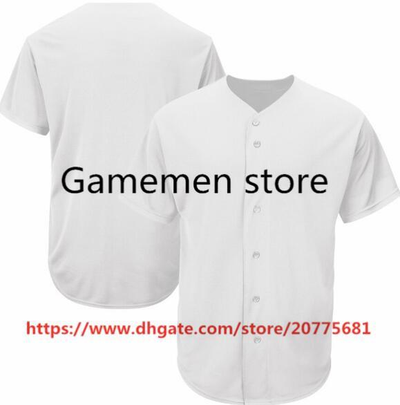 Gamemen store AS047-Baseball-Shirts Männer Frauen Jugend Kind Erwachsene Lady Alle Ihre eigene Name Zahl S-4XL Genähte Personalisierte