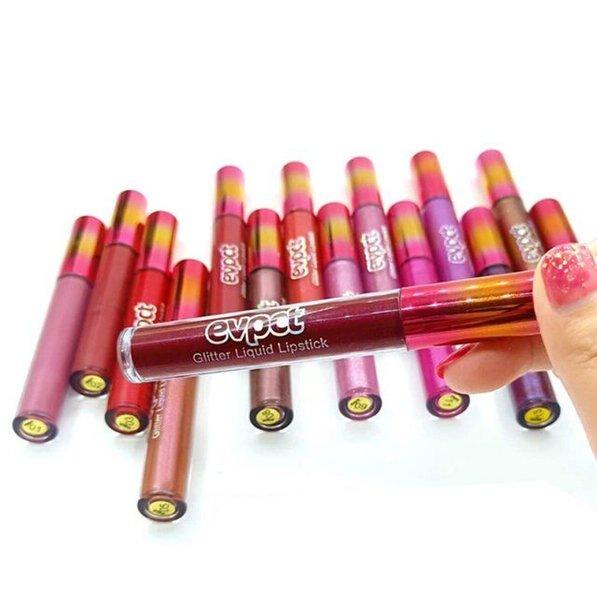 Commercio all'ingrosso 15 colori Evpct Matte Glitter rossetto Opaco lipgloss Lucido Diamante lip gloss diamante scintilla rossetto liquido Trucco