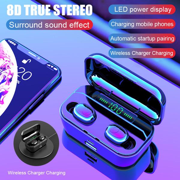 G6S Bluetooth écouteurs stéréo 8D Sport sans fil casque écouteurs Mini TWS Ecouteurs étanche avec 3500mAh puissance
