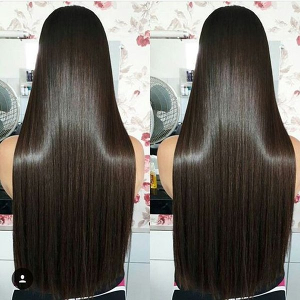 28 Inch Full Lace Wig Preplucked Glueless Virgin Brazilian Long Straight 28 30 Inches Lace Front Wigs Human Hair For Black Women