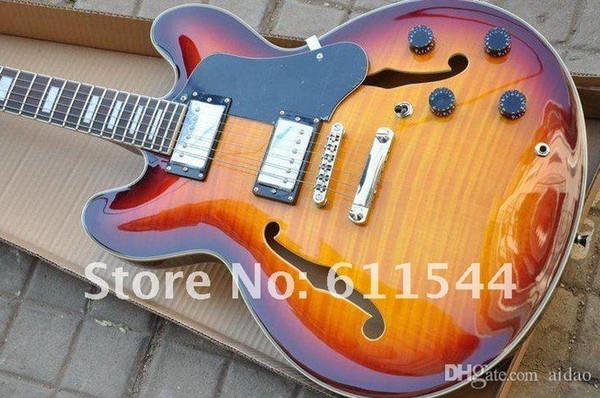 Commercio all'ingrosso G semi-Hollow 335 Classic Jazz chitarra strumenti musicali di alta qualità spedizione gratuita