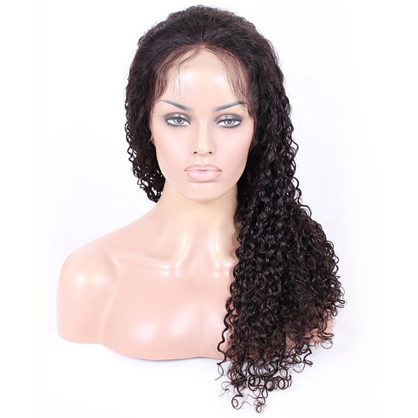 Top 8a Full Lace Human Hair Wigs Pre-plucked Perimeter with BabyHair Brazilian Hairs Spiral Curly Wigs Natural Hairline With Babyhair