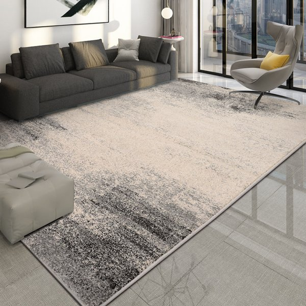 Nordic Gray Carpets For Living Room Thick Bedroom Rug Modern Cold