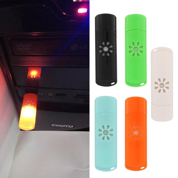 Ambientador de coche USB LED Difusor de coche sin aceite esencial Auto Decoración Mini Aroma Humidificador de aceite esencial