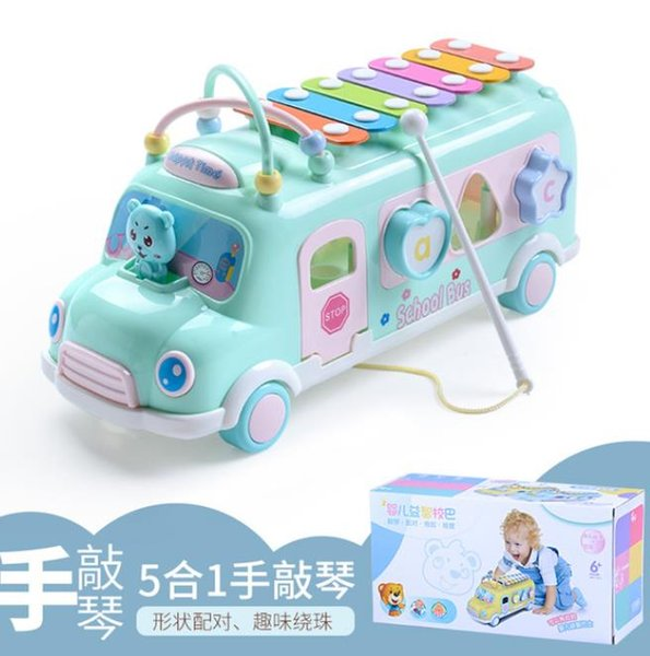 top popular music Children's Piano musical instrument color Drum Toys for boys Xylophone kids Newborn Infant synthesizer 2021