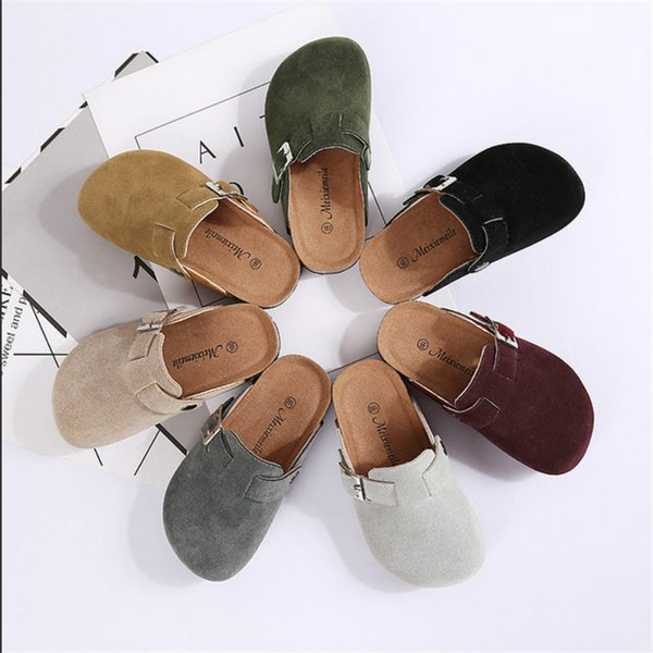 Spring Summer Kids Cork Sandals with Buckle Boys Girls Antiskid PU Slipper Children Home Outdoor Beach Casual Rome Shoes 10 Color Hot C41301