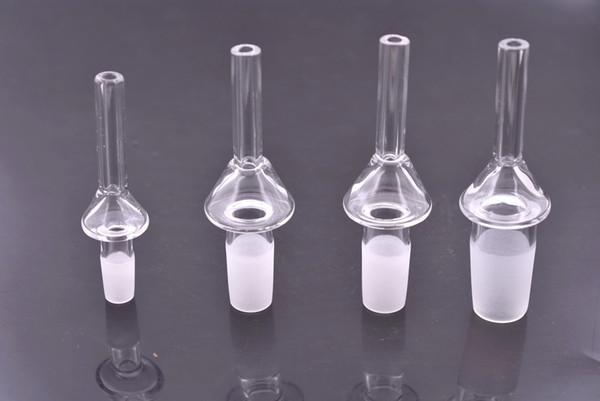 2 pcs Nectar Collectar Quartz Ponta Com 10mm 14mm 18mm feminino masculino quartzo prego Para Nectar Kits de Colecionador VS Titânio Prego Frete grátis