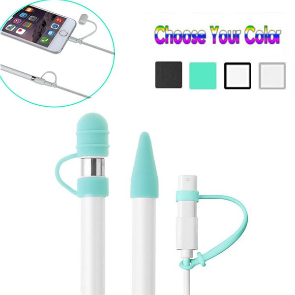 For iPad Pro 10.5 12.9 9.7 Apple Pencil Case Tablet Touch Stylus Pen Protective Cover Pouch Portable soft Silicon Case