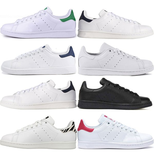 Toptan Tasarımcı Stan Lüks ayakkabılar moda smith kız yeşil siyah kırmızı bule gündelik deri spor ayakkabı ayakkabı boyutu 36-45 womens mens