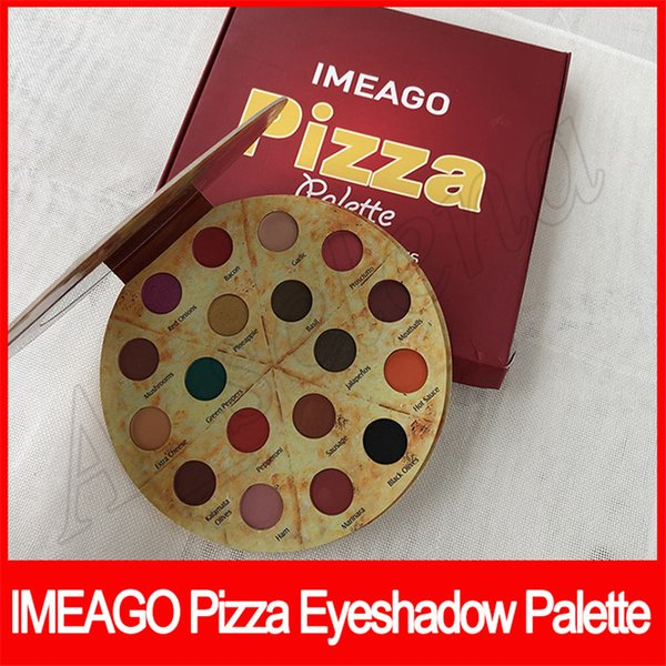 New IMEAGO Pizza Palette Eye Makeup 18 Delicious Toppings Eyeshadow 18 Color Eye shadow Palette Fast shipping