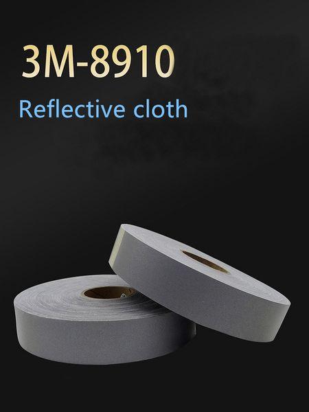 2M 3M * 5CM 8910 gris argenté réfléchissant tissu ignifuge tissu bande réfléchissante service d'incendie de vêtements de travail matériel