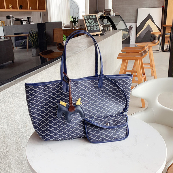 2019 new South Korea Dongdaemun dog tooth treasure fashion trend large capacity portable vegetable basket handbag