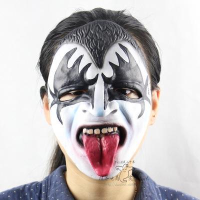 Un pazzo a una festa di Halloween puntelli all'ingrosso di alta qualità in gomma morbida orrore fantasma maschera all'ingrosso