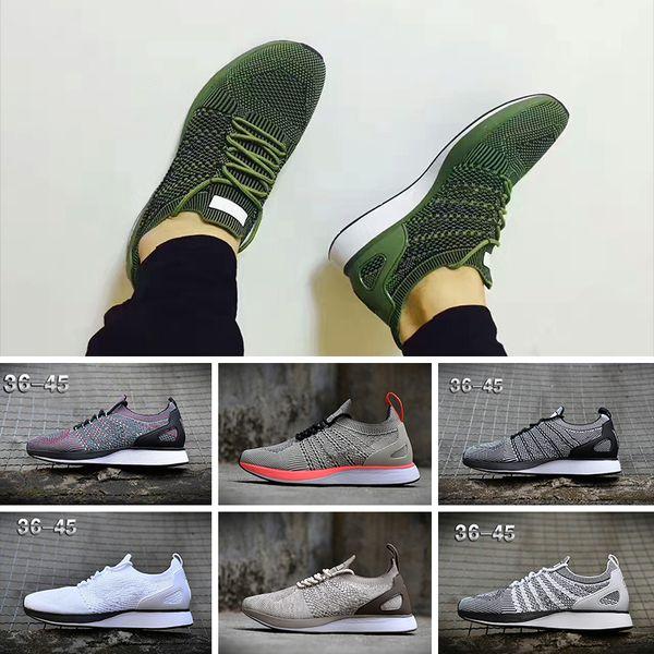 Nike Flyknit Racer Be True 2018 Hombres Mujeres Casual Racer Blueberry Pistachos Lavanda Zapatos Corrientes Ligero Transpirable Zapatos Deportivos Para Caminar Zapatillas eur36-44