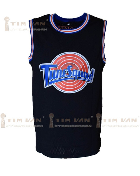 Tim Van Steenberge Space Jam Murray 22 Lola 10 Bugs 1 Le Pew 69 Tune Squad Basketball Jersey Stitched-black Q190521