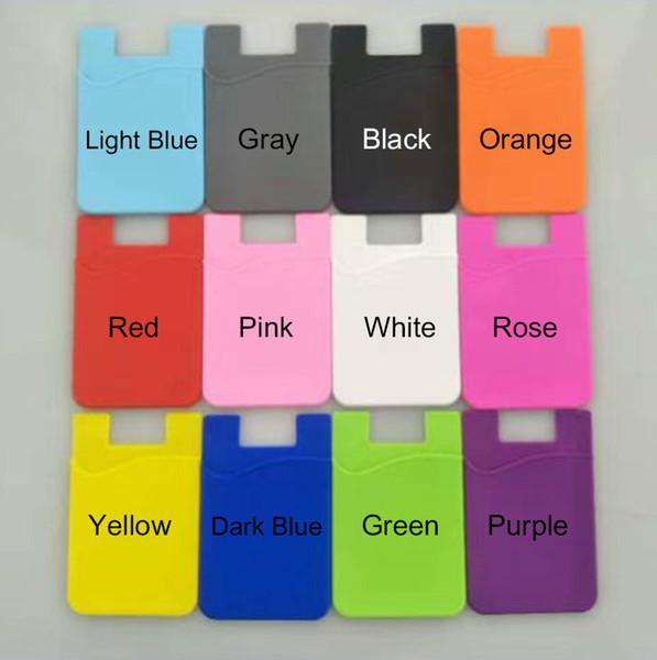 Tarjeta de teléfono Etiqueta de bolsillo Etiqueta adhesiva adhesiva ID 3M Tarjeta de crédito Cartera de bolsillo Funda universal para teléfono inteligente con bolsa OPP