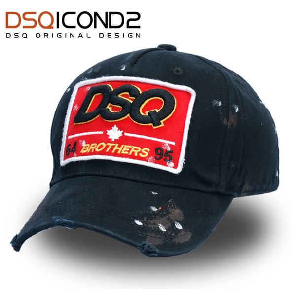 DSQICOND2 Qualitäts-Marken-Baseballmütze Trucker Cap Casquette Homme für Frauen Männer gorras Plan Caps Snapback Caps Truckerkappen SH190921