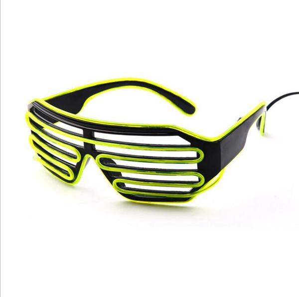 EL Wire Light LED Glasses Bright Light Party Glasses Club Bar Performance Glow Party DJ Dance Eyeglasses OOA2479