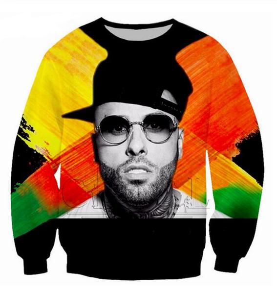 La più nuova cantante di moda Nicky Jam Rapper X Divertente stampa 3d Felpa Maglione Donna Uomo Abiti Felpe con cappuccio Plus Size WY026