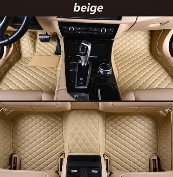 Para Chevrolet Lova 2006-2010 año, alfombrilla de auto de lujo rodeada por una alfombra de interior impermeable de cuero resistente al desgaste y ecológica