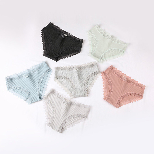 Lace Cotton Panties Breathable Briefs Frauen Unterwäsche Sexy Dessous Designer Frauen Kleidung Geschenk Drop Ship 190529