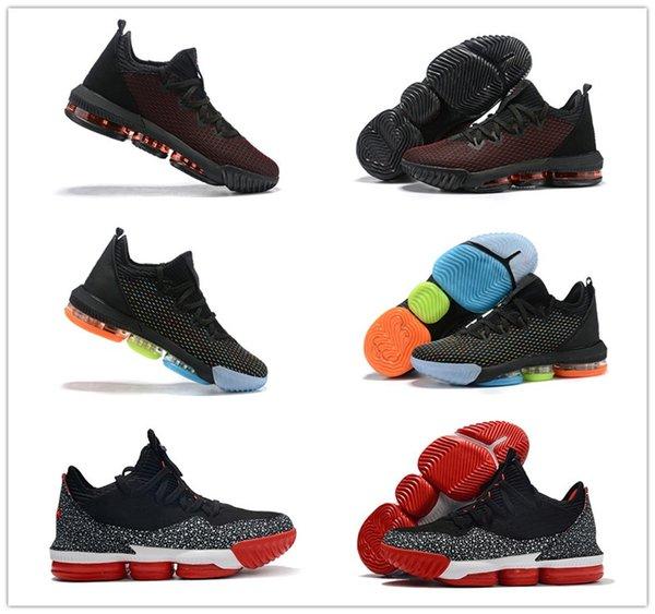 Low Lebron 16 Fresh Bred Black University Красные мужские уличные кроссовки Fashion James 16 I Promise Многоцветные мужские спортивные спортивные туфли 16