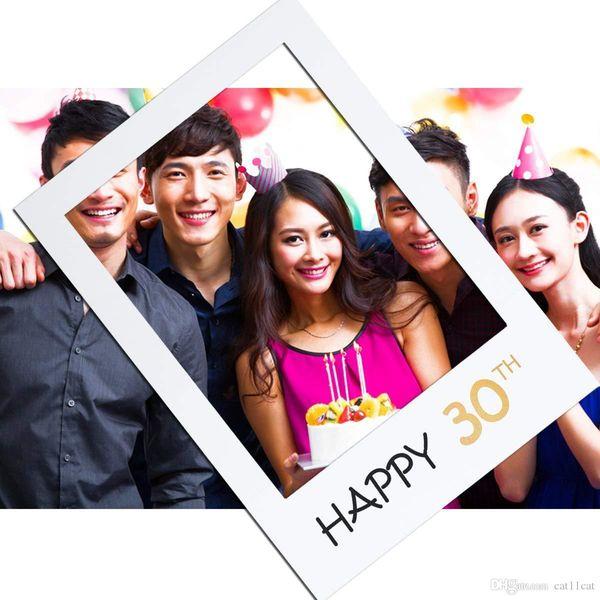 16 18 21 Años marco de Photo Booth feliz cumpleaños PhotoBooth Puntales primera 16a 30a 40a 50a cumpleaños decoración aniversario