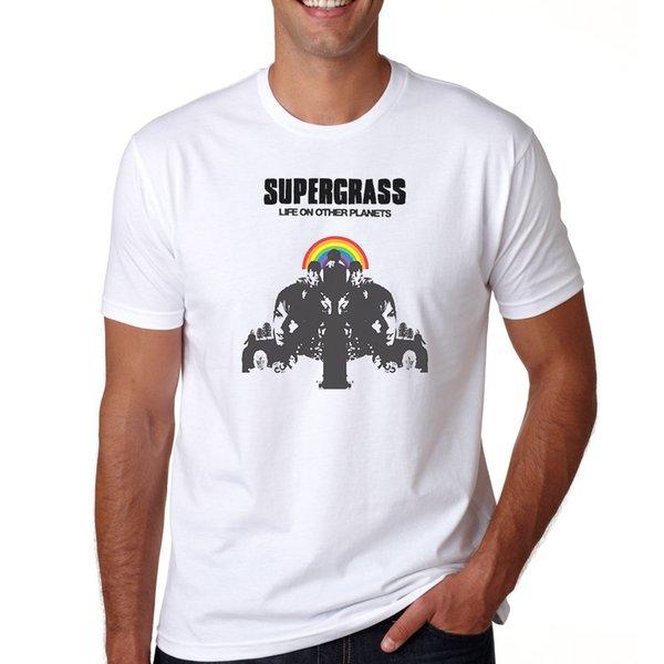 la vie sur d'autres planètes Supergrass indie rock S M L XL 2XL tee T-shirt 3XL
