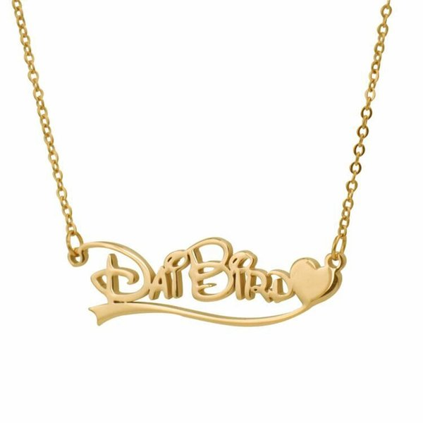 Custom Personalized Name Necklace for Women Initial Personalized Best Words Women's Valentine's Day Jewelry Christmas Gift